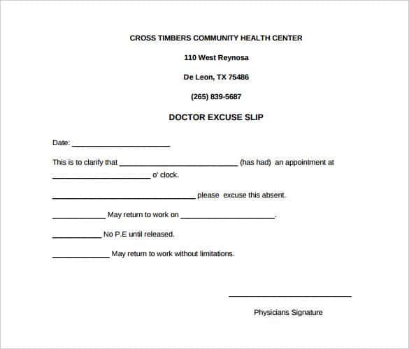 28+ Doctors Note Templates - PDF, DOC Free  Premium Templates
