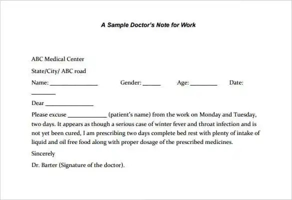 28+ Doctors Note Templates - PDF, DOC Free  Premium Templates - medical note