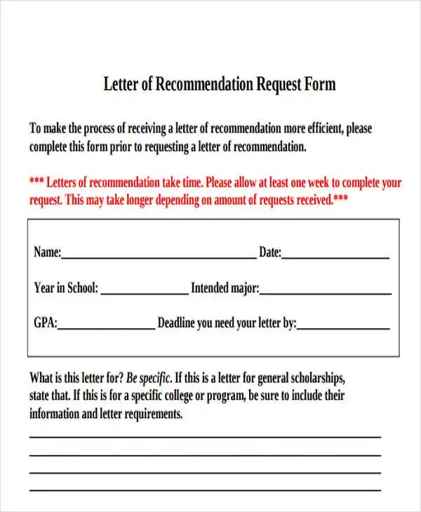 45+ Free Recommendation Letter Templates Free  Premium Templates - recommendation letter request