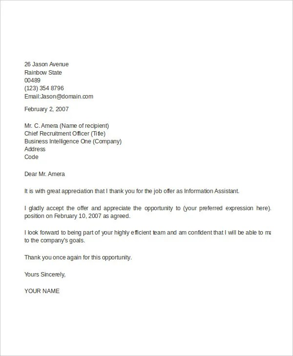 44+ Appointment Letter Template Examples Free \ Premium Templates - order letter