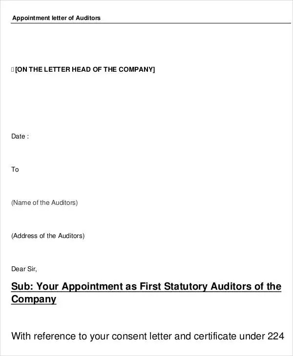 Appointment Letters - 18+ Free Word, PDF Documents Download Free - format for appointment letter