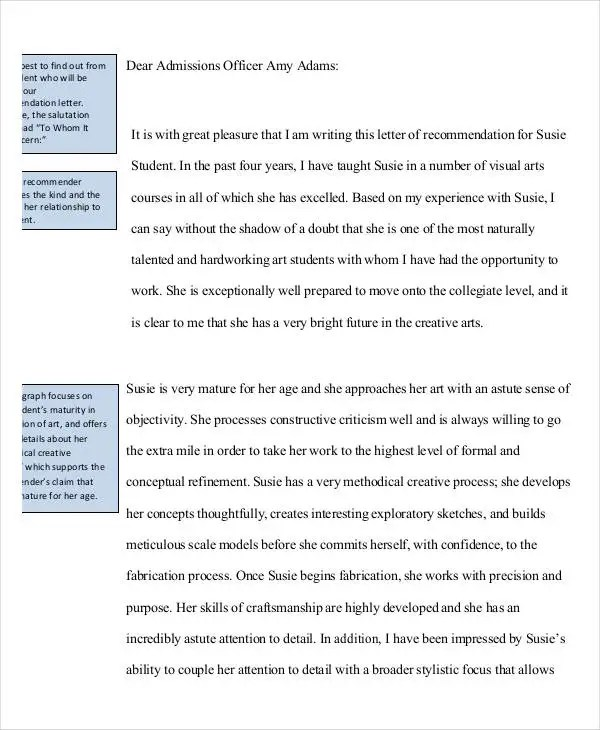 37+ Simple Recommendation Letter Template - Free Word, PDF Documents - recommendation letters for student