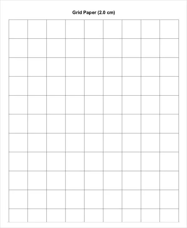 Printable Grid Paper Template - 12+ Free PDF Documents Download
