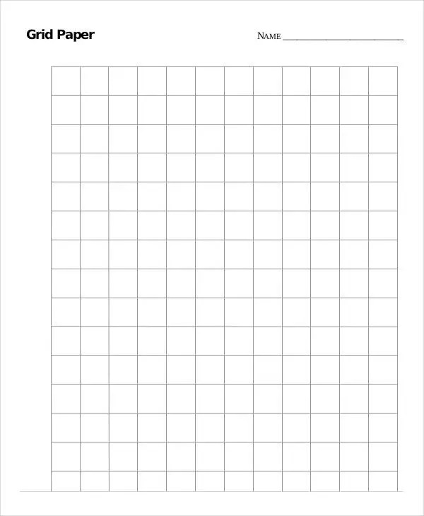 Printable Grid Paper Template - 12+ Free PDF Documents Download - large square graph paper