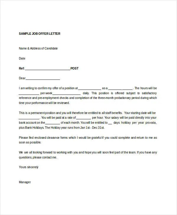 job offer letter sample doc - Onwebioinnovate
