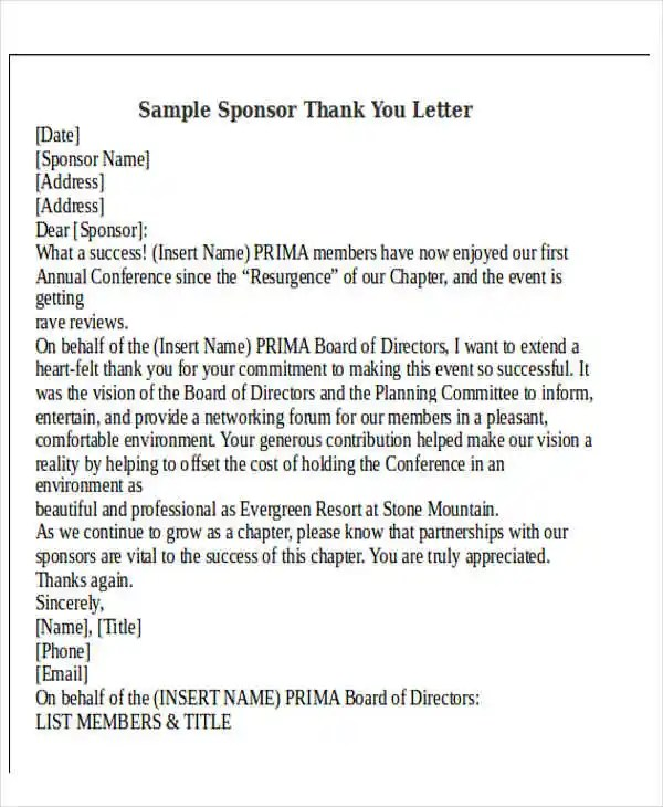 Thank-You Letter Format Free  Premium Templates