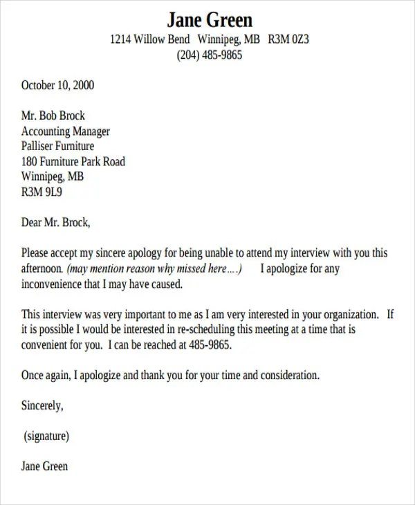 47+ Formal Letter Format Templates Free \ Premium Templates - letter of apology sample