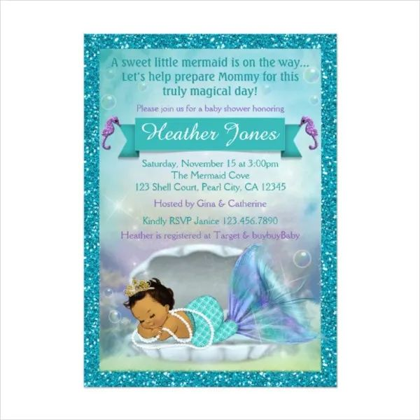 baby shower invitations for girl template