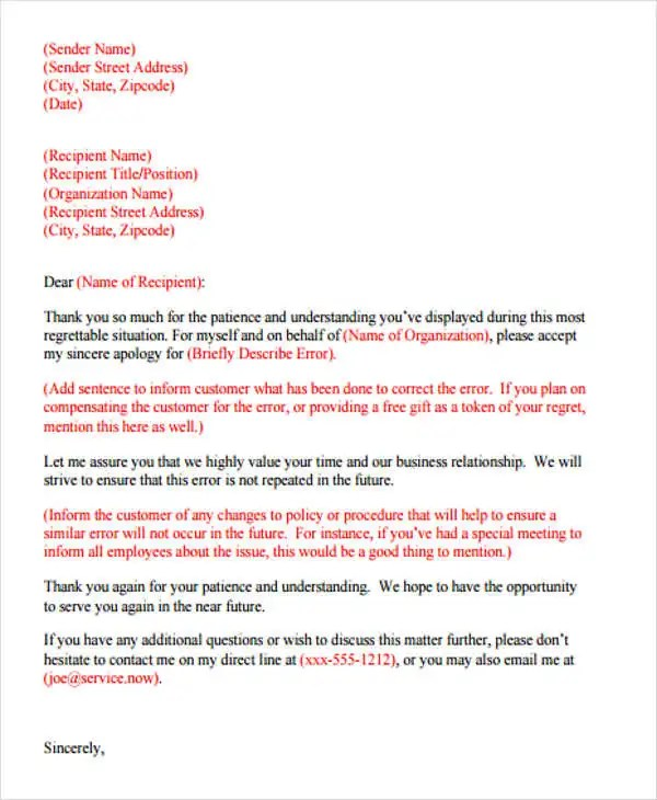 Formal Apology Letters lacienciadelpanico - formal apology letters