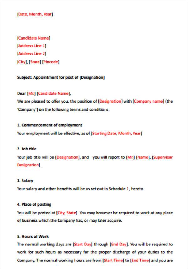42+ Sample Offer Letter Template Free  Premium Templates - sample offer letter
