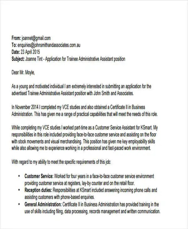 55+ Formal Letter Examples Free  Premium Templates - formal cover letter for job application