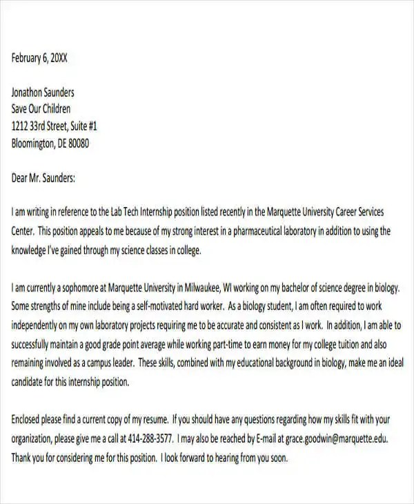 55+ Formal Letter Examples Free  Premium Templates - example of formal letter