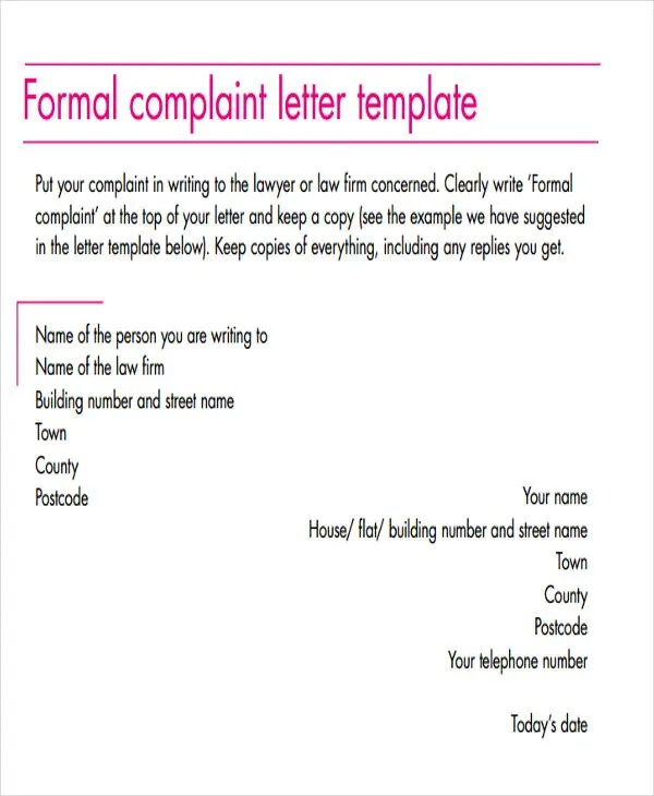 55+ Formal Letter Examples Free  Premium Templates