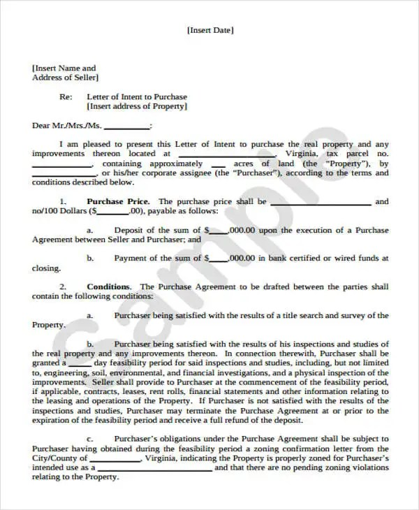 Real Estate Offer Letter How To Write An Offer To Purchase Letter - real estate offer letter