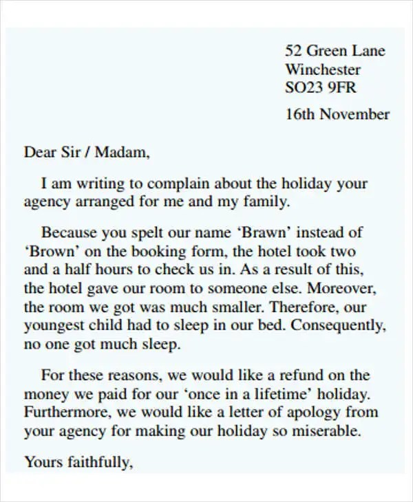 Example Of Formal Letter Example Of Character Letter To Judge - formal letters