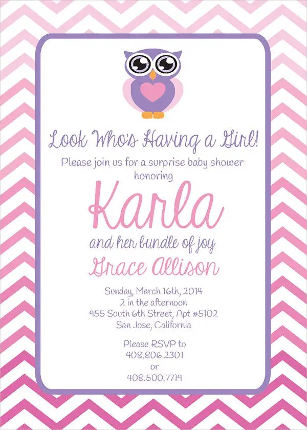 53+ Unique Baby Shower Invitations Free  Premium Templates - Printable Baby Shower Invite