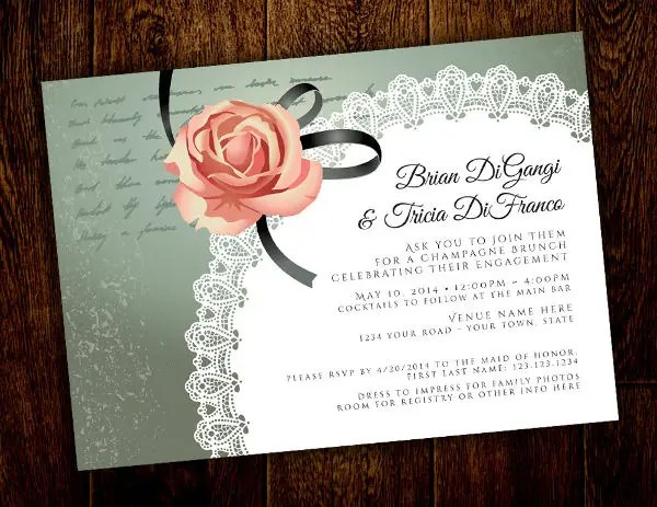 Engagement Invitation Template Publisher \u2013 orderecigsjuiceinfo