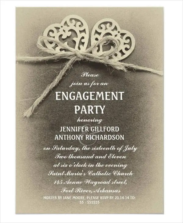 Free printable engagement party invitations templates getjobcsatco – Engagement Invites Templates Free