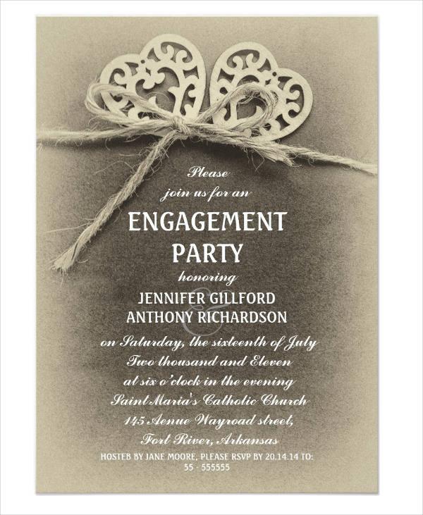 50+ Printable Engagement Invitation Templates - PSD, AI Free