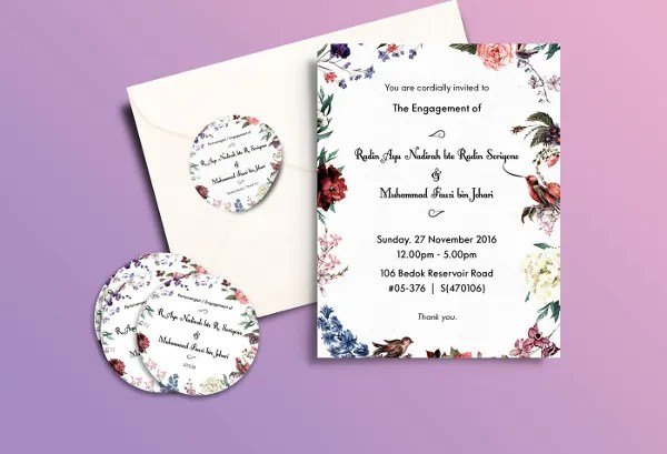 40+ Printable Engagement Invitations Templates Free  Premium - engagement invitation templates free printable