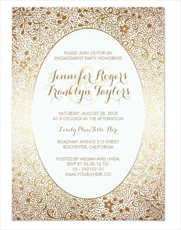 50+ Printable Engagement Invitation Templates - PSD, AI Free