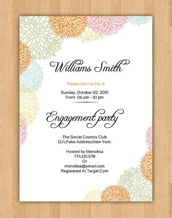 40+ Printable Engagement Invitations Templates Free  Premium