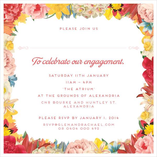 47+ Engagement Invitation Designs Free  Premium Templates - engagement card template
