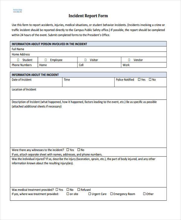 27+ Incident Report Template in PDF Free  Premium Templates