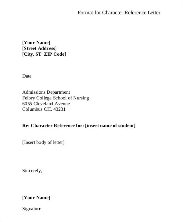 40+ Sample Reference Letter Templates Free  Premium Templates