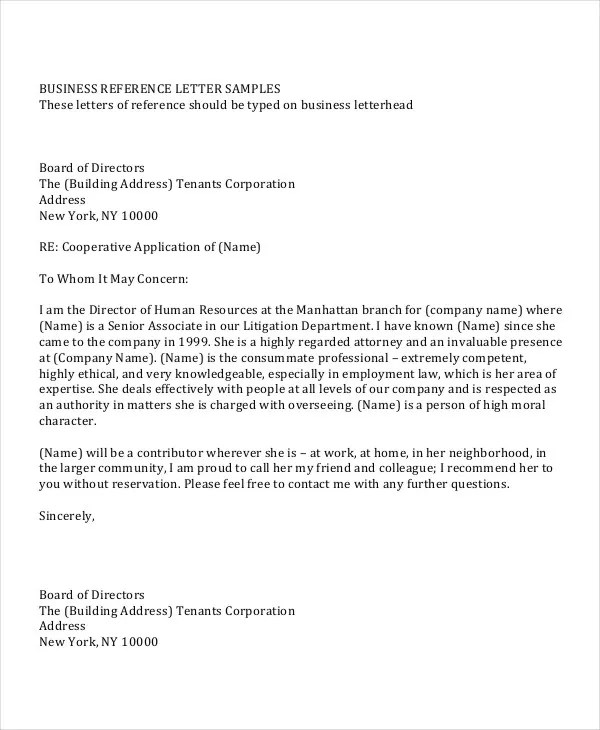 Reference Letter Template 42 Free Sample Example 31 Sample Reference Letter Templates Free And Premium
