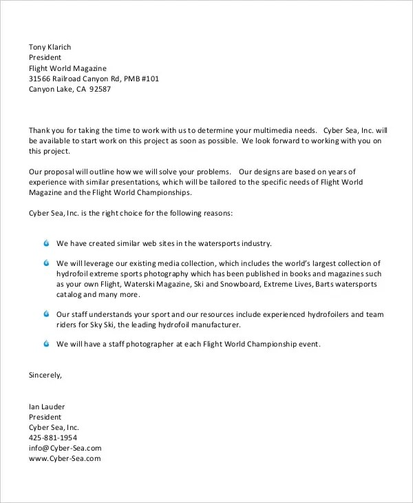 52+ Sample Business Letters Free  Premium Templates - sample business letters