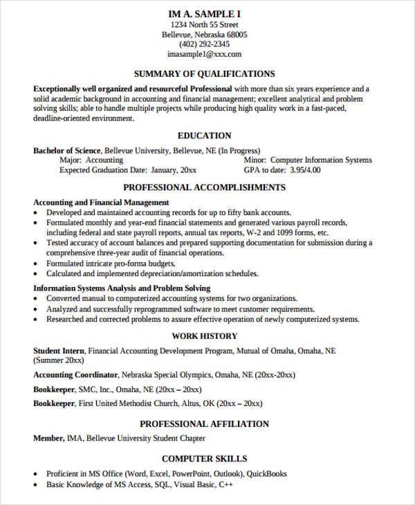 48+ Resume Formats Free \ Premium Templates - comprehensive resume format
