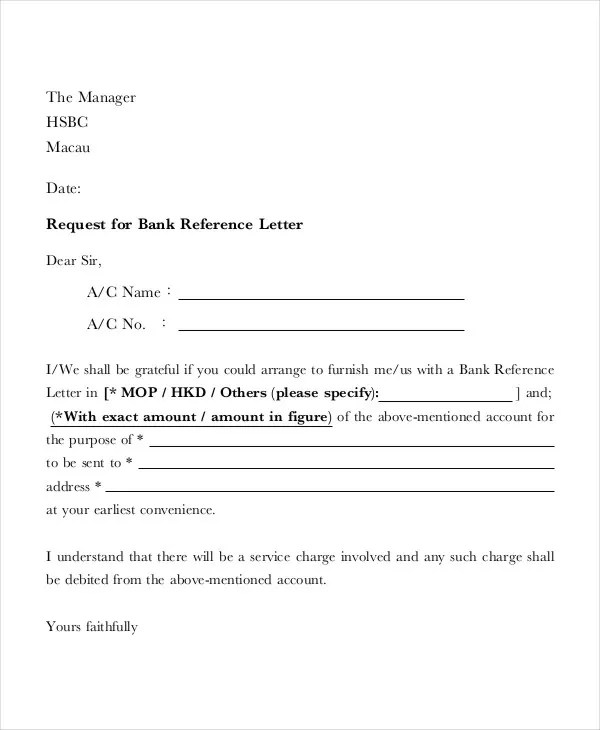 52+ Sample Business Letters Free  Premium Templates - reference request letter