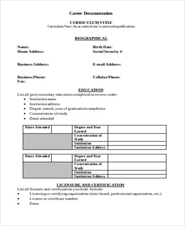 63+ Resume Formats - PDF, DOC Free  Premium Templates - sample professional resume format