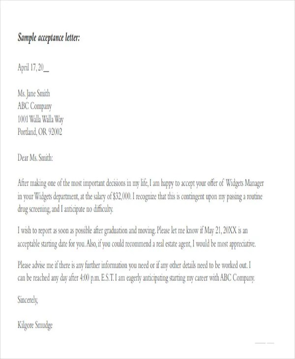 73+ Offer Letter Templates Free \ Premium Templates - real estate offer letter