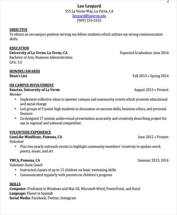 63+ Resume Formats - PDF, DOC Free  Premium Templates - job resume formats