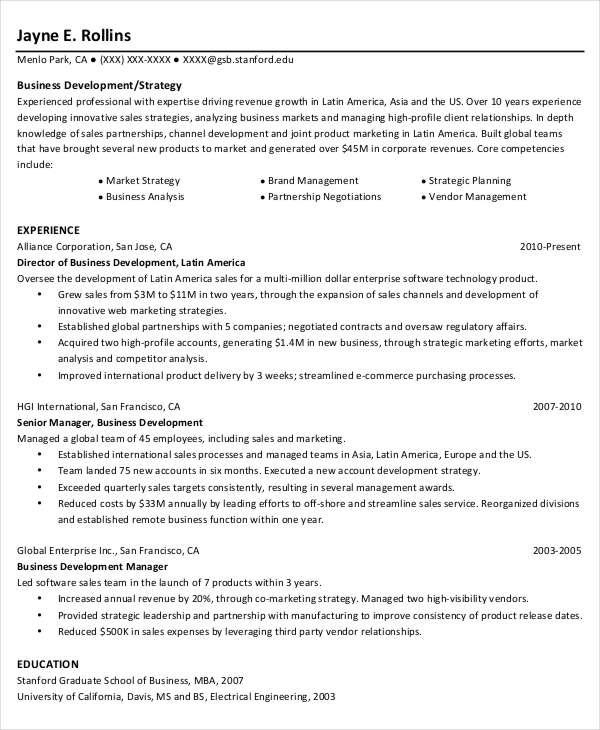44+ Sample Resume Templates Free  Premium Templates