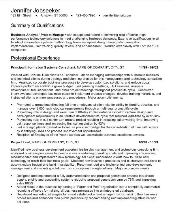 sample healthcare business analyst resume resume resume examples