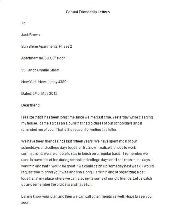 Friendly Letter Templates - 42+ Free Sample, Example Format - policy memo template