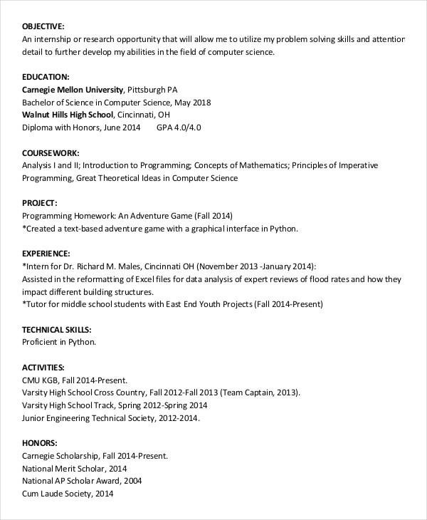 high school graduate resume templates - Holaklonec