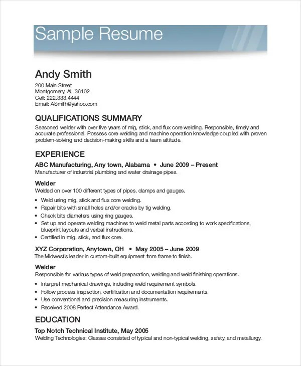 Printable Resume Free - Professional Resume Templates \u2022