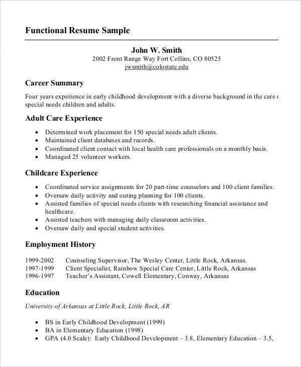 simple resume example