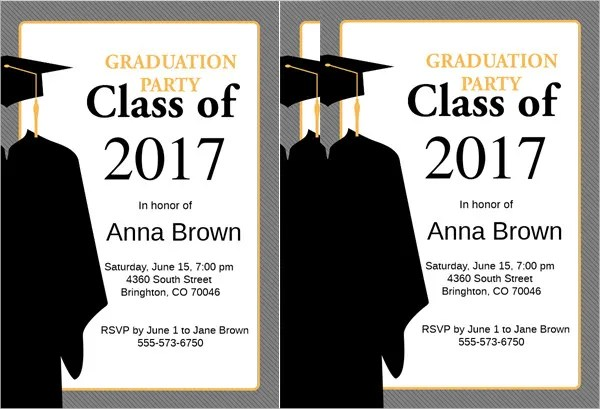 42+ Sample Graduation Invitation Designs  Templates - PSD, AI - graduation party invitations