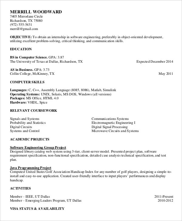 Printable Resume Template - 35+ Free Word, PDF Documents Download - resume template free printable