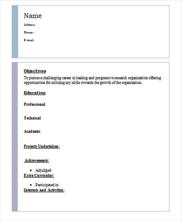 63+ Resume Formats - PDF, DOC Free  Premium Templates