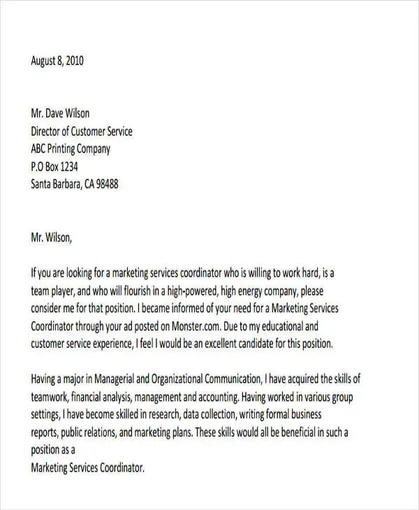 sample cover letter for business development manager