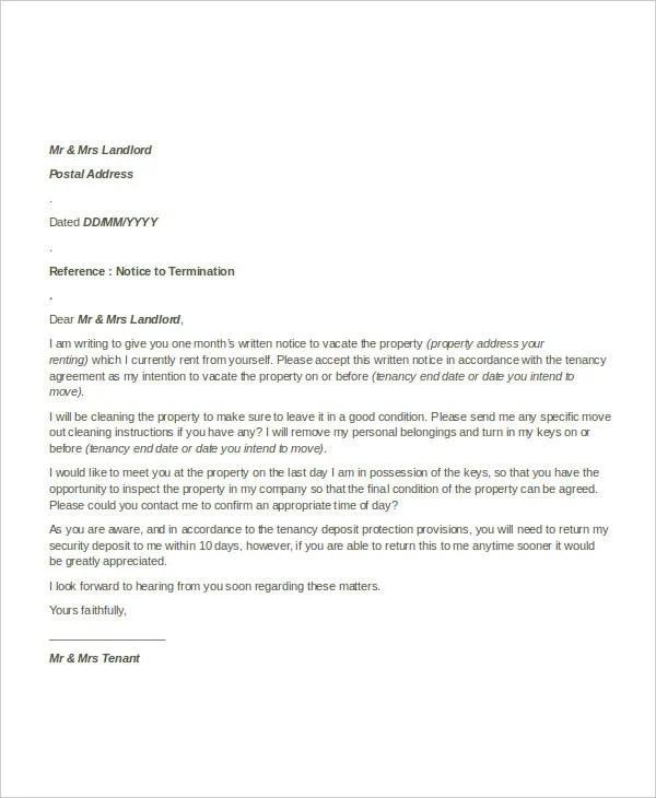 32+ Simple Termination Letter Templates - DOC, PDF, AI Free