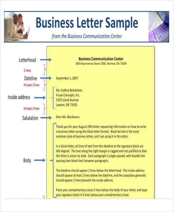 44+ Business Letter Format Free  Premium Templates - business letter example