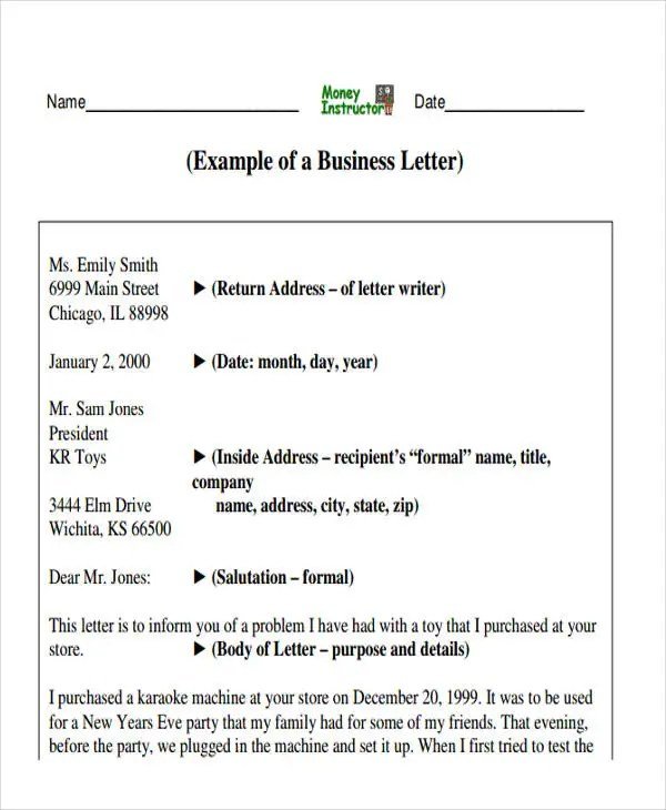 professional business letter - Ozilalmanoof - professional business letter