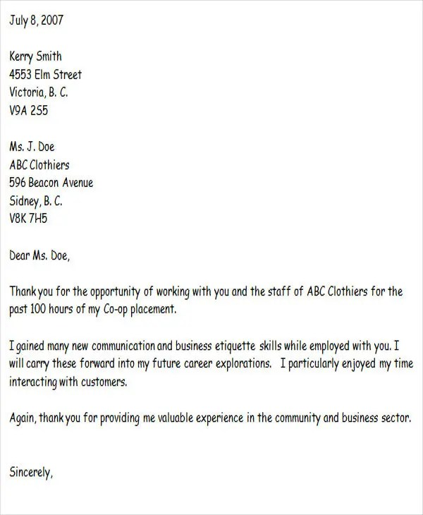 37+ Thank-You Letter in Word Templates Free  Premium Templates - thank you letter to employer